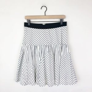 Maeve Anthropologie Edit Striped Skirt